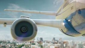 L'avion enlèvent Sendai Japan illustration libre de droits