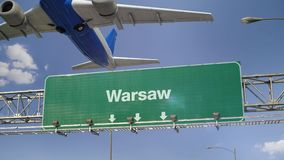 L'avion enlèvent Varsovie banque de vidéos