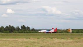 L'avion MiG-29 débarque Photos libres de droits