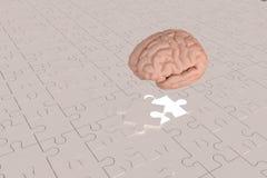 L'avion ouvert de cerveau de morceau de puzzle Image libre de droits