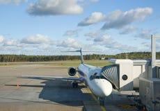 L'avion préparent à l'embarquement Images stock