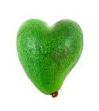 L'avocado ha modellato come cuore Fotografie Stock Libere da Diritti