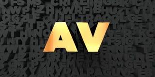 L'avoirdupois - testo dell'oro su fondo nero - 3D ha reso l'immagine di riserva libera della sovranità royalty illustrazione gratis