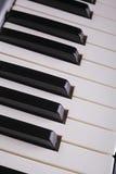 L'avorio bianco ed i tasti neri di un piano Immagini Stock