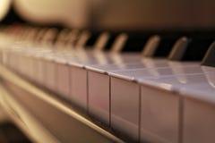 L'avorio bianco ed i tasti neri di un piano Fotografia Stock