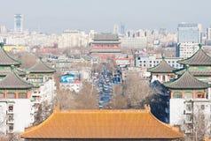 L'axe central à Pékin Images libres de droits