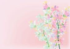 l'azalée abstraite fleurit sur le fond blanc pour le fond Image stock