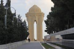 l'azerbaïdjan bakou La flamme éternelle dans l'allée des martyres Image libre de droits