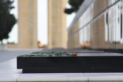 l'azerbaïdjan bakou La flamme éternelle dans l'allée des martyres Photographie stock libre de droits