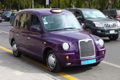 l'azerbaïdjan bakou voiture de taxi de veiw de rue Images stock