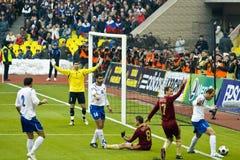 l'Azerbaïdjan Russie contre Images stock