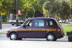 l'azerbaijan bacu automobile del taxi del veiw della via Immagine Stock Libera da Diritti