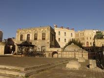 l'azerbaijan bacu Vista delle vie della città Vecchia città Fotografie Stock
