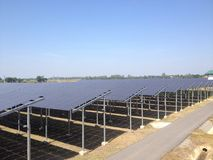 L'azienda agricola solare Fotografia Stock
