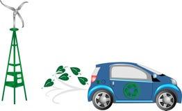 L'azionamento alternativo va verde e salvo. Fotografie Stock