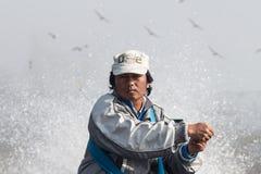 L'azionamento del driver della barca una barca Immagine Stock Libera da Diritti