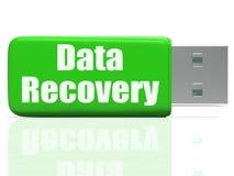 L'azionamento della penna di recupero di dati significa il trasferimento di file sicuro Fotografie Stock