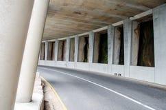 L'azionamento di punta di Chapman del tunnel della strada Fotografia Stock