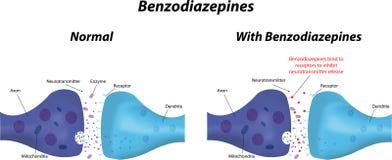 L'azione delle benzodiazepine Fotografia Stock