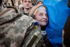 L'azione di protesta in Kyiv centrale Fotografie Stock Libere da Diritti