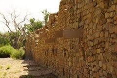 L'Aztèque du nord de mur ruine le monument national Photographie stock libre de droits
