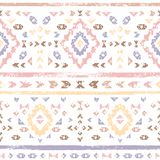L'Aztèque géométrique rose coloré par pastel a vieilli le modèle sans couture ethnique grunge, vecteur Image libre de droits
