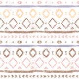 L'Aztèque géométrique rose coloré par pastel a vieilli le modèle sans couture ethnique grunge, vecteur Photographie stock