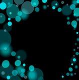 L'azzurro astratto illumina la priorità bassa Immagini Stock