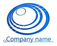 Il blu circonda il logo 3D Fotografie Stock