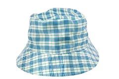 L'azzurro controlla il cappello Fotografia Stock