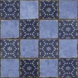 L'azzurro copre di tegoli la priorità bassa Immagine Stock