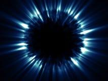 L'azzurro lucida da un oggetto globale scuro galattico Immagine Stock Libera da Diritti