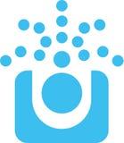 L'azzurro punteggia il marchio Immagini Stock
