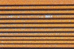 L-barra oxidada del metal rodada Imagen de archivo libre de regalías