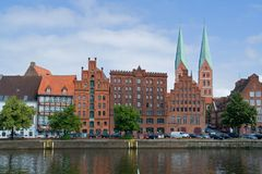 Lübeck Harbor Royalty Free Stock Image
