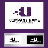 L Brief Logo Design Vector Business Card Stock Afbeeldingen