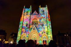 L bruit et lumière de DES Rêves d'Odyssée de ` montrent à Nantes Image stock