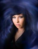 L bruja black-haired Imágenes de archivo libres de regalías