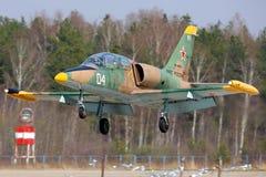 L-39C aérien Albatros de l'atterrissage russe de l'Armée de l'Air à la base aérienne de Kubinka photos stock