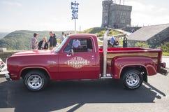 1978 ` l camión expreso de Li del aventurero 150 de Dodge del rojo Fotografía de archivo libre de regalías