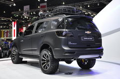2.8L Chevrolet Trailblazer LTZ at the 36th Bangkok International Motor Show. PAKKRED, NONTHABURI, THAILAND - APRIL 3, 2015: Chevrolet displays its new 6-speed Royalty Free Stock Images