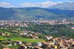 l ciudad de Aquila del ` de Abruzos Italia Imagen de archivo libre de regalías