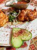 L?cker feg kebab i restaurangen royaltyfri bild