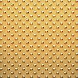 L'or a clouté de plaque métallique Photo stock