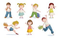 L'école heureuse badine l'illustration de vecteur Images stock