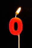 l'Compleanno-anniversario esamina in controluce il numero Immagine Stock Libera da Diritti