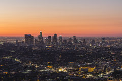 L.A. Dawn. Editorial dawn view of downtown Los Angeles architecture Stock Images