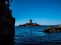 L ` del ile d del ` o de la costa francesa imagen de archivo