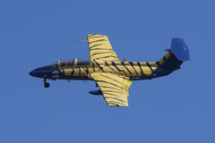 L-29 Delphin with stripes Royalty Free Stock Image