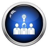 L?der corporativo Icon de la mujer de Team Finding New Idea With libre illustration